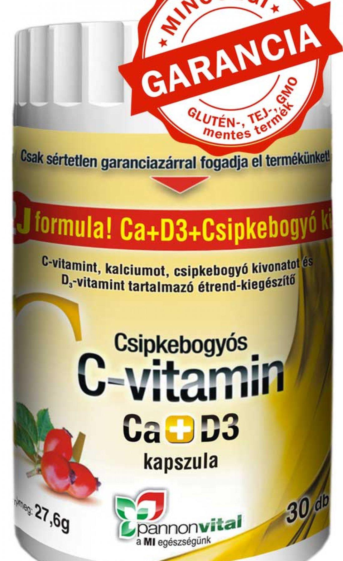 C- vitamin Ca+ D3+ csipke  bogyó kivonata